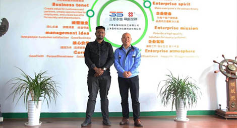 Indian customers visit our company